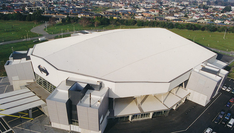 Westpac Trust Stadium Commercial Roofing Christchurch